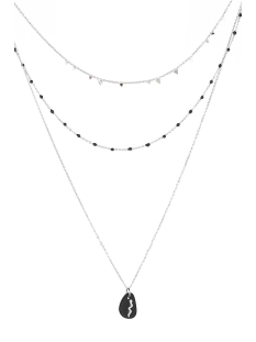 Touch Sieraad SNAKE NECKLACE JE11675 BLACK