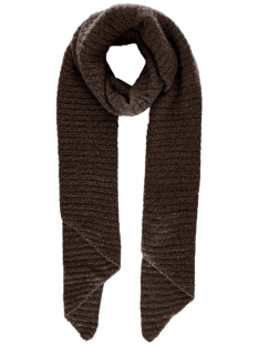 Pieces Sjaal PCPYRON STRUCTURED LONG SCARF NOOS 17105988 MOLE/CP