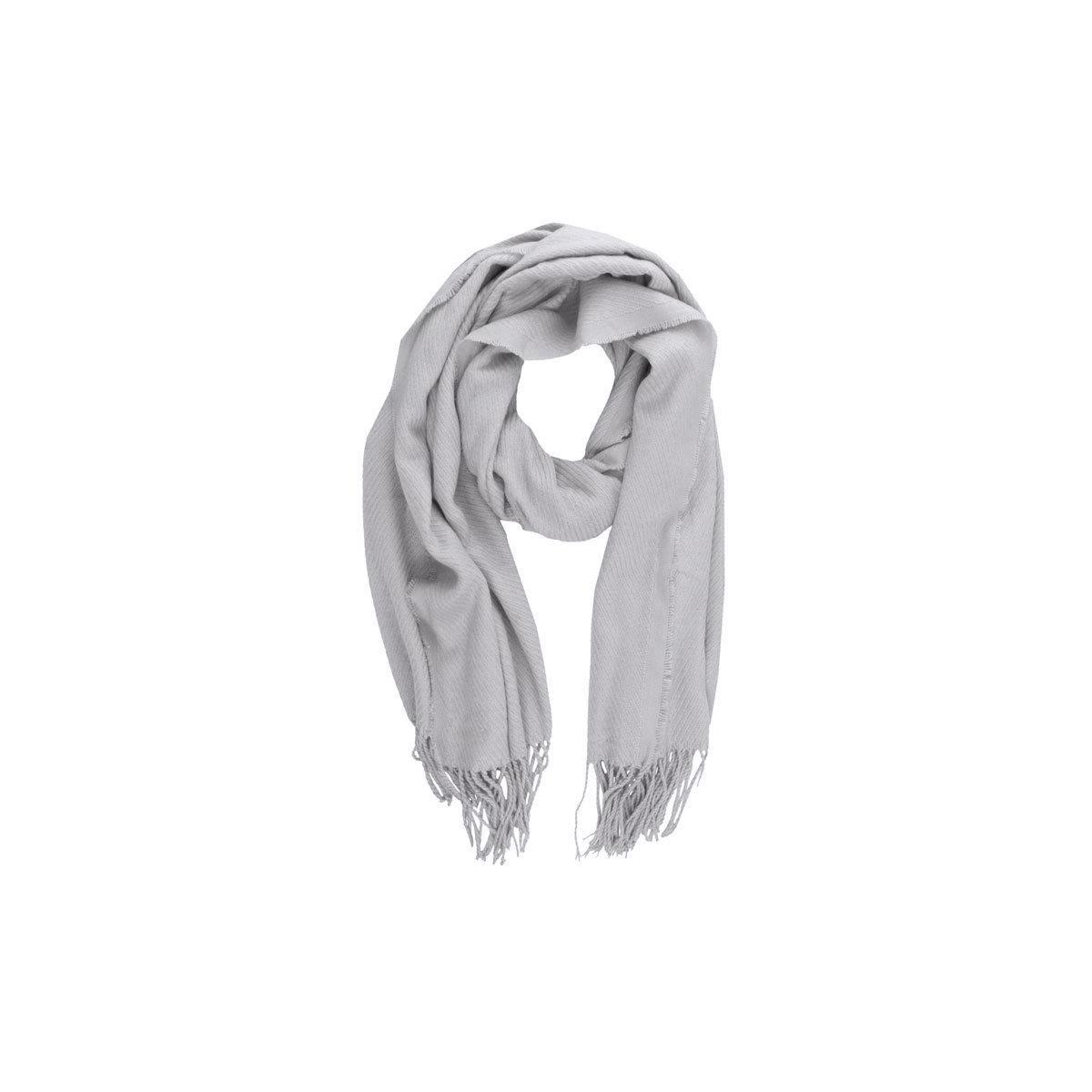 kial long scarf 17057386 pieces sjaal light grey melange