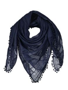 pctami square scarf 17072822 pieces sjaal navy blazer