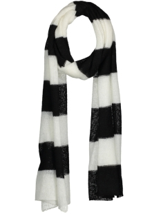 10 Days Sjaal 20-690-8101 WHITE WOOL BLACK