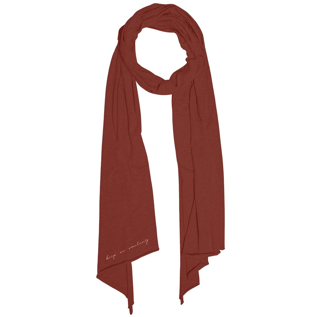 toffe basic sjaal 03ts19fbro zusss sjaal roest