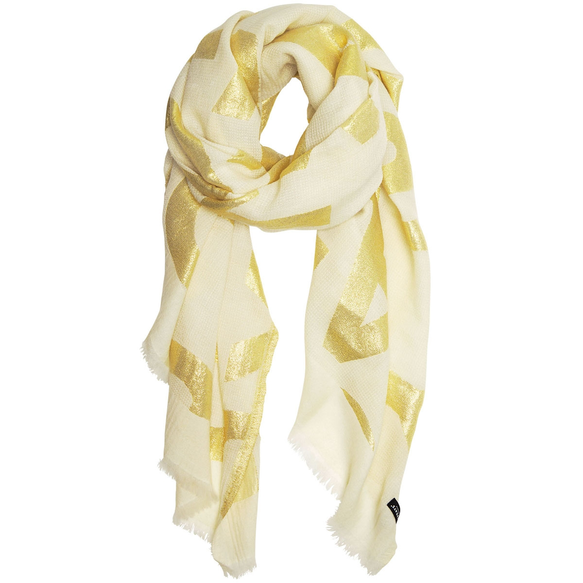 scarf lurex big logo 20 905 9103 10 days sjaal ecru