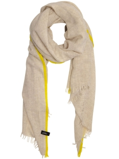 10 Days Sjaal SCARF FLUOR STRIPES 20 904 9103 SOFT WHITE MELEE