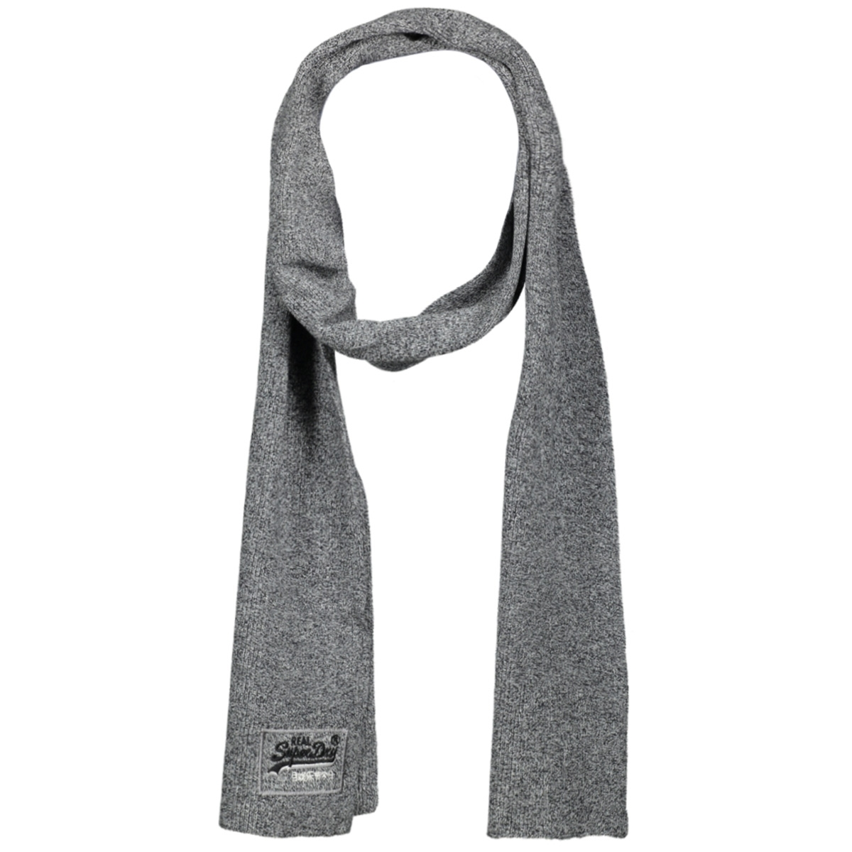 orange label scarf m9300004a superdry sjaal basalt grey grit