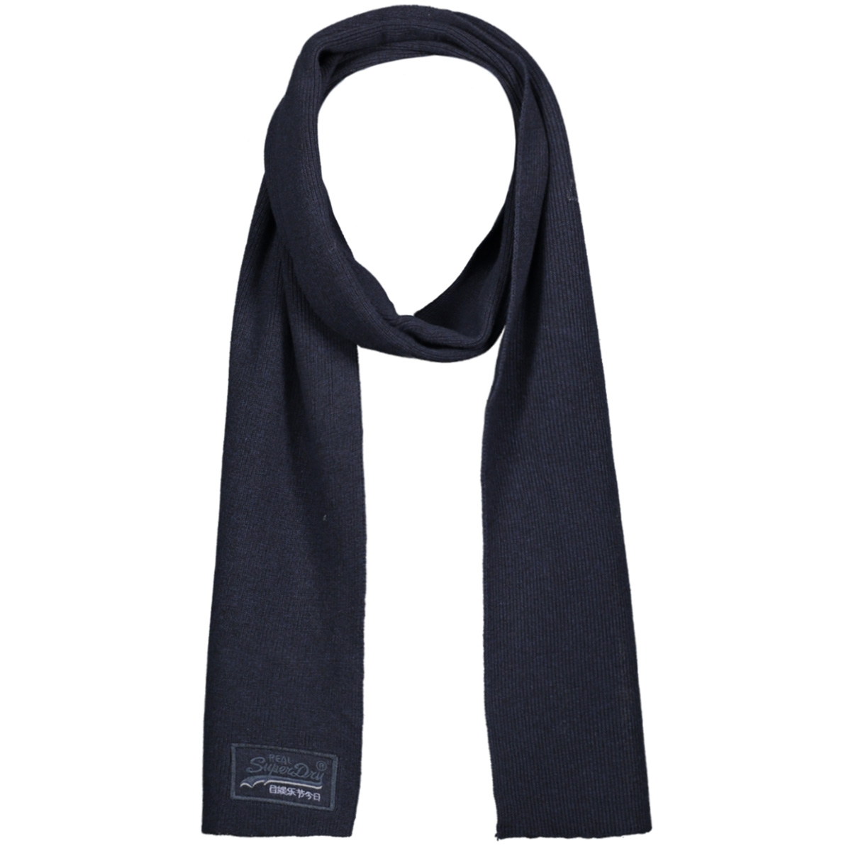 orange label scarf m9300004a superdry sjaal navy grit