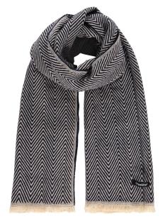 scarf herringbone mc12 0907 haze & finn sjaal navy