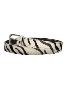 riem 3 cm red temple riem zebra