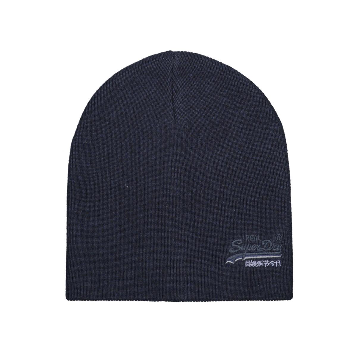 orange label beanie m9000009a superdry accessoire downhill navy/black grit