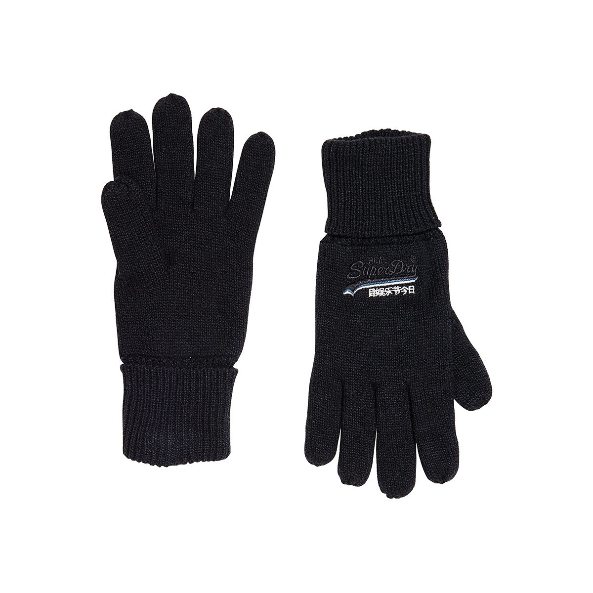 orange label glove m9300003a superdry accessoire navy grit