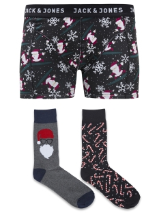 Jack & Jones Accessoire JACX-MAS TRUNKS & SOCKS GIFTBOX 12132401 Black/Santa