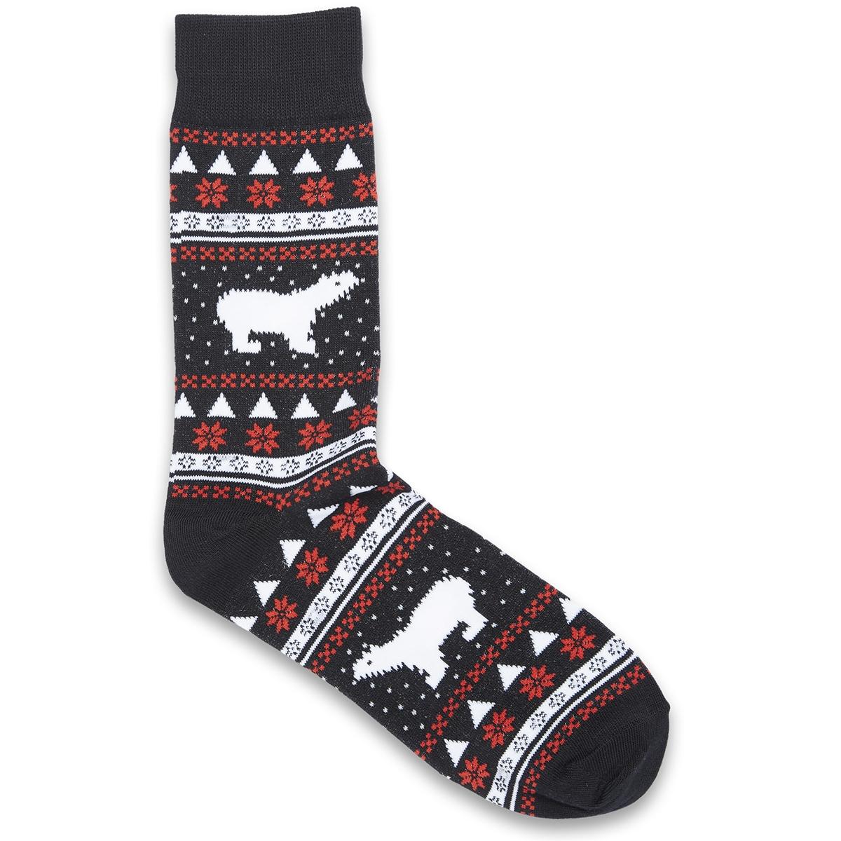 jacx-mas trunks & socks giftbox 12132401 jack & jones accessoire black/snowman