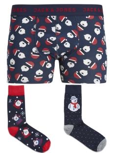 Jack & Jones Ondergoed JACGIFTBOX TRUNKS & SOCKS LTD 12144747 Navy Blazer/Santa