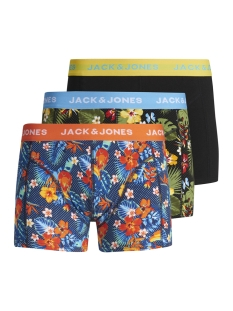 Jack & Jones Ondergoed JACCRAZY FLOWER PRINT TRUNKS 3 P 12154176 Fiery Red