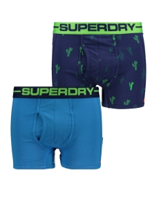 Superdry Ondergoed M31107NT SPORT BOXER DOUBLE PACK CACTIS BRIGHT/COASTAL BLUE