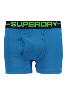 m31107nt sport boxer double pack superdry ondergoed cactis bright/coastal blue