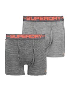 sport boxer double pack m31000nr superdry ondergoed grvelgryspcedy / sltgryfderstrpe