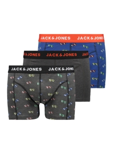 jacjonah trunks 3 pack trunks 12153858 jack & jones ondergoed fiery red/dark grey