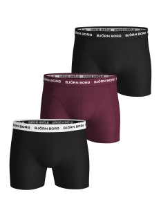 Bjorn Borg Ondergoed 3P SHORTS SEASONAL 1841 1152 40501 BEET RED