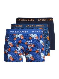 jacdeep flower trunks 3 pack 12158004 jack & jones ondergoed navy blazer/navy blazer