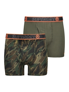 Superdry Ondergoed SPORT BOXER DBL PACK M3100019A NORDIC KHAKI