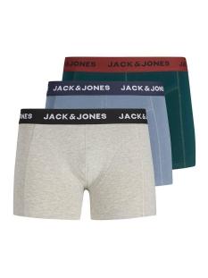 Jack & Jones Ondergoed JACPRE TRUNKS 3 PACK 12161360 Light Grey Melange/China Blue