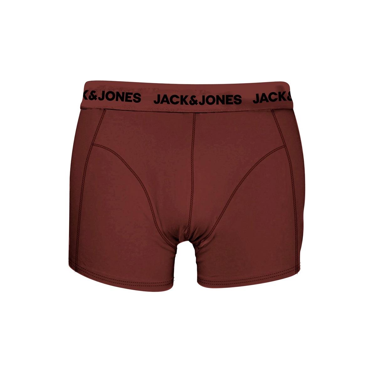 jacautumn trunks 3 pack 12161343 jack & jones ondergoed fired brick/black - ro