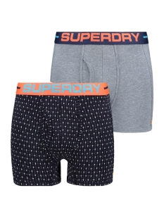 sport boxer dbl pack w3100027a superdry ondergoed navy/blue