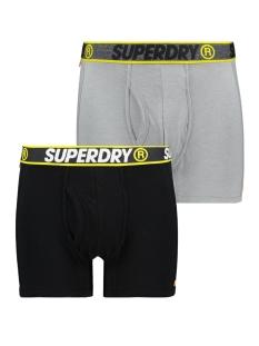 Superdry Ondergoed SPORT BOXER DBL PACK M3100019A BLACK/STEEL GREY FEEDER