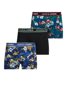 Jack & Jones Ondergoed JACFLOWER TRUNKS 3 PACK.NOOS 12171253 Black/Bardaboes