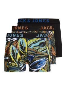 Jack & Jones Ondergoed JACLEAVES TRUNKS 3 PACK 12164173 Black/Nautical