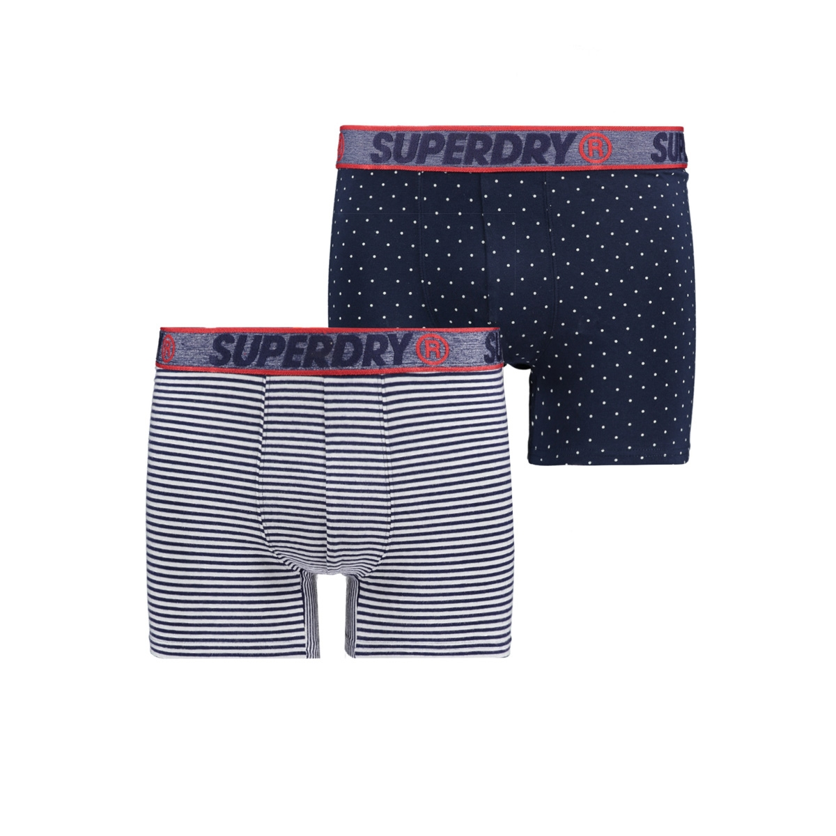 boxer dubble pack m3110001a superdry ondergoed navy aop