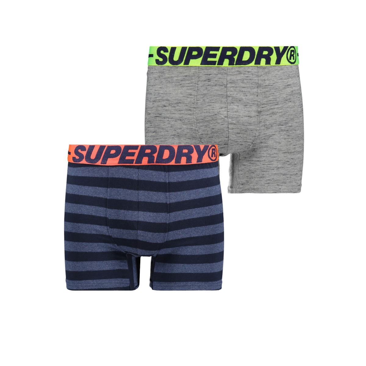 boxer dubble pack m3110001a superdry ondergoed grey grit