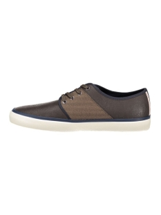 jfwturbo pu herringbone sneaker java 12110674 jack & jones schoen java