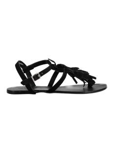 Pieces Sandaal PSBERTA SUEDE SANDAL COGNAC 17080144 Black