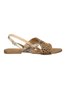 Pieces Sandaal PSJOYCE LEATHER SANDAL LEOPARD GOLD 17080053 Gold Color
