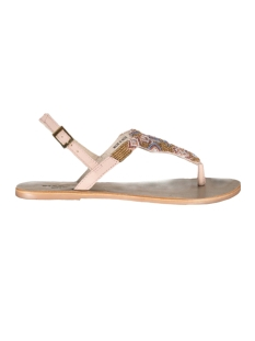 Pieces Sandaal CARMEN BEADS MULTI LEATHER SANDAL NUDE  17080142 Nude