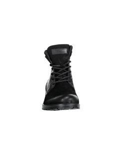 jfwdennis leather boot black 12129387 jack & jones laars black
