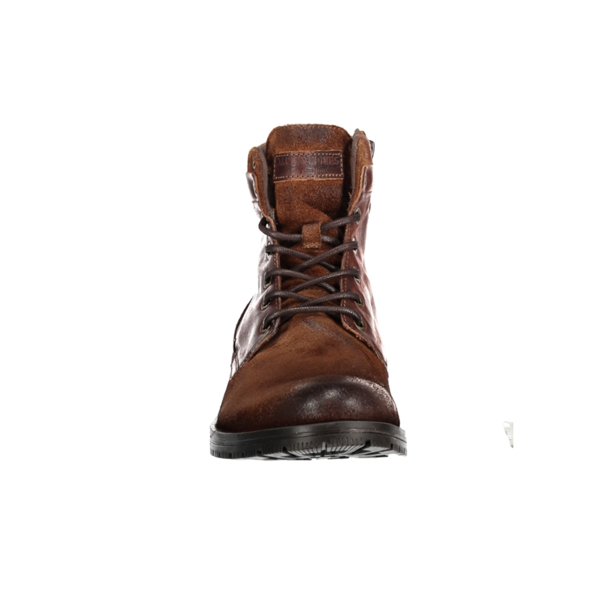jfwdennis leather brown stone 12130555 jack & jones laars brown stone
