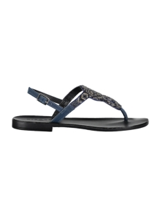 Pieces Sandaal PSCARMEN LEATHER SANDAL 17087487 Navy Blazer