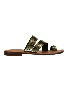 Pieces Sandaal PSMAVIS LEATHER SANDAL 17086756 Gun Metal