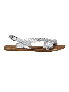 Pieces Sandaal PSMINDY LEATHER SANDAL 17087380 Silver Colour