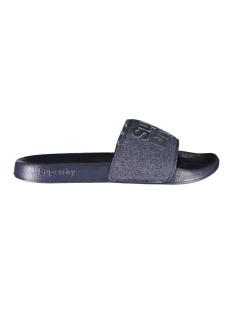 lineman poolslide mf300009a superdry slipper navy / navy grit / optic white
