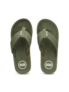 jfwshaw flip flop pack 2 12169432 jack & jones slipper olive night
