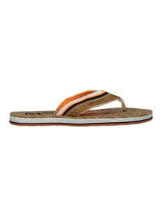 roller flip flop mf3104st superdry slipper tan/ orange/ linear cork