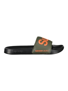 Superdry Slipper POOL SLIDE MF3001SR BLACK/OLIVE