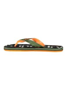 scuba grit flip flop mf3106et superdry slipper khaki camo/khaki/orange