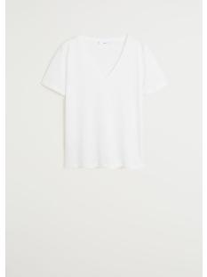 katoenen t shirt met v hals 67084384 mango t-shirt 01