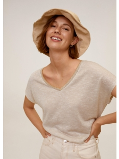 Mango T-shirt T SHIRT MET CONTRASTERENDE HALSBOORD 67047891 05