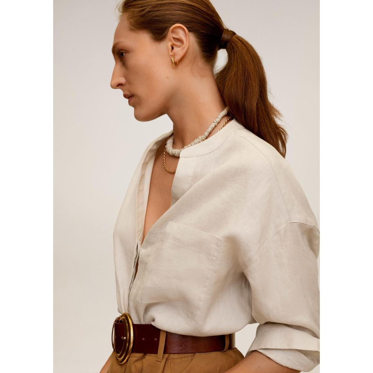 linnen overhemd met maokraag 67087652 mango blouse 03